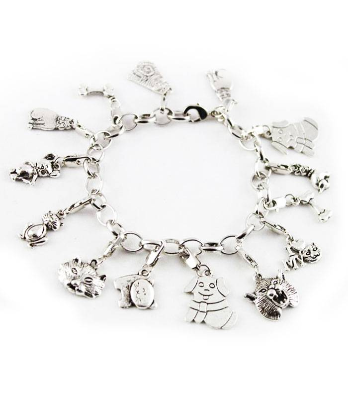 GeracaoPet Pulseira Dog and Cat Charm