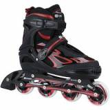 Oxer Patins Oxer Pixel Little Roller - In Line - Fitness - ABEC 7 - Adulto - PRETO/VERMELHO
