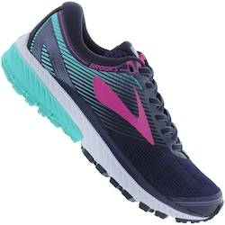 Brooks Tênis Brooks Ghost 10 - Feminino - AZUL ESC/VERDE