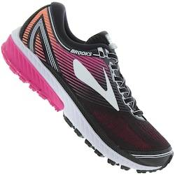 Brooks Tênis Brooks Ghost 10 - Feminino - Preto/Rosa Esc