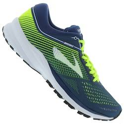 Brooks Tênis Brooks Launch 5 - Masculino - AZUL/VERDE CLA