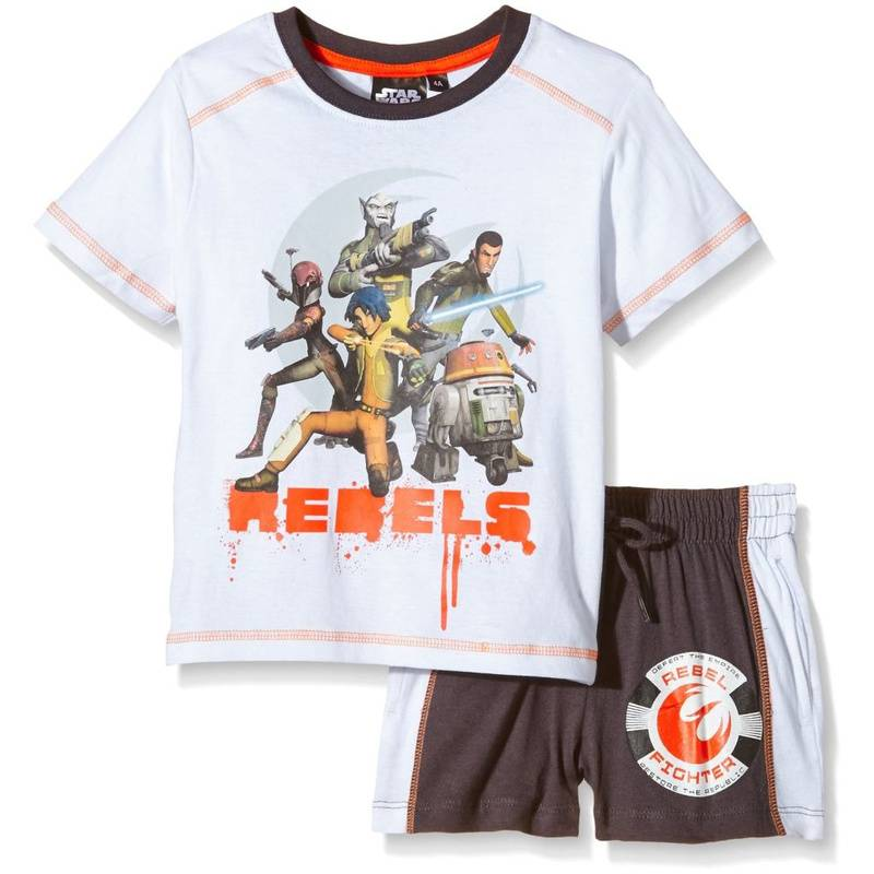 "Lucasfilm Star Wars Shirt und Shorts Set ""Rebels & Star Wars"" Weiß 116"