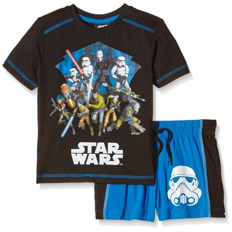 "Lucasfilm Star Wars Shirt und Shorts Set ""Rebels & Star Wars"" Schwarz 104"