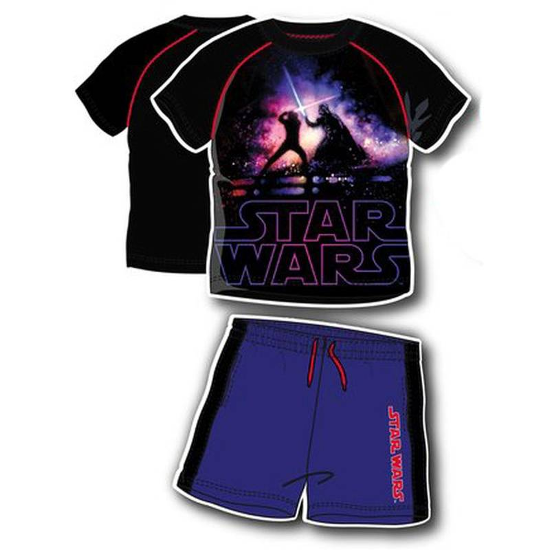 "Lucasfilm Star Wars Shirt und Shorts Set ""Star Wars"" Schwarz 104"