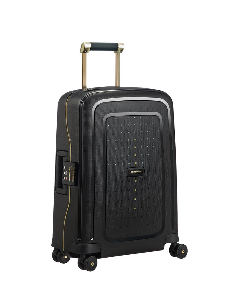 Samsonite Trolley Spinner Cure 55 cm (50919 25 Black/Gold) schwarz