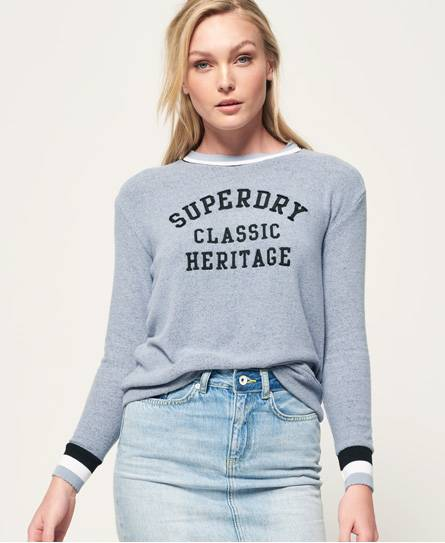 Superdry American Girl Oberteil mit Applikation