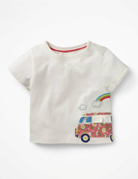 Baby Ivory T-Shirt mit maritimer Applikation Baby Baby Boden