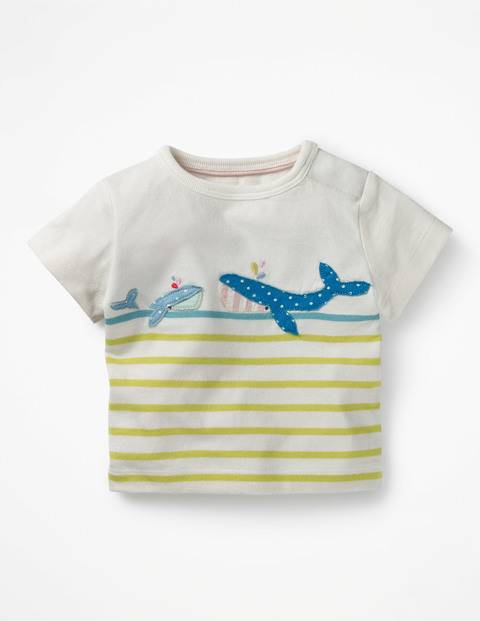 Baby Blue T-Shirt mit maritimer Applikation Baby Baby Boden