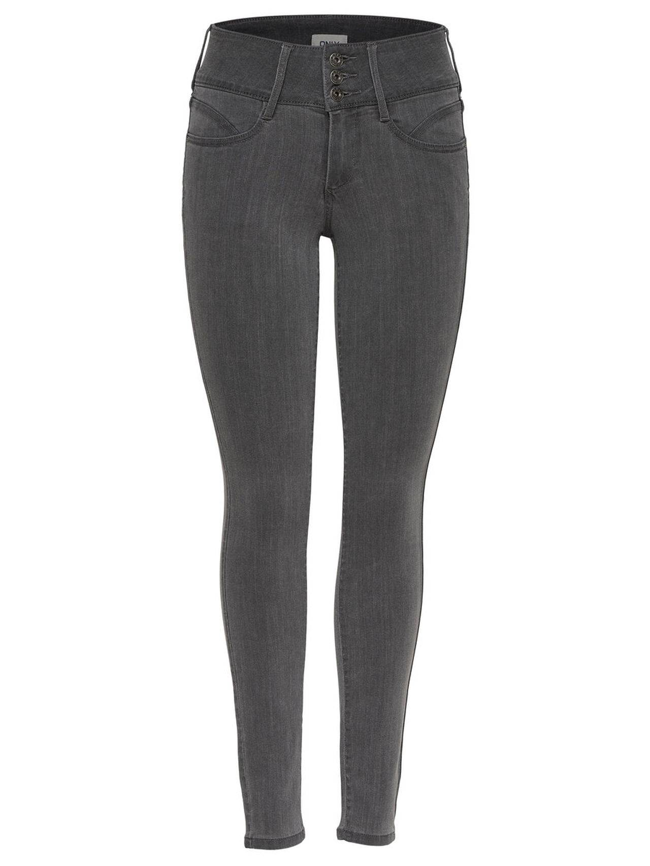 ONLY Anna Mid Ankle Skinny Fit Jeans Damen Grau
