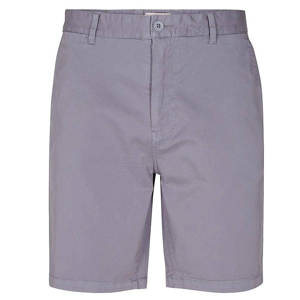 Minimum Frede Stretch Cotton Chino Shorts Airforce Blue MEDIUM