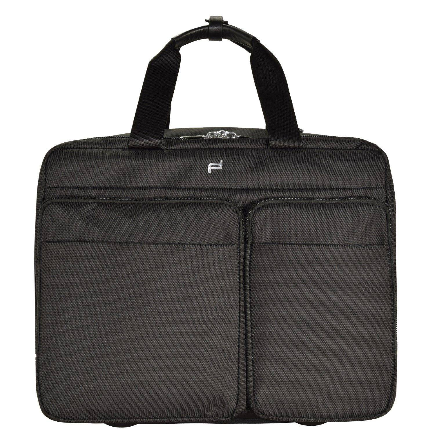 PORSCHE Design Roadster 3.0 Brief Bag M 2-Rollen Trolley 42 cm Laptopfach, black