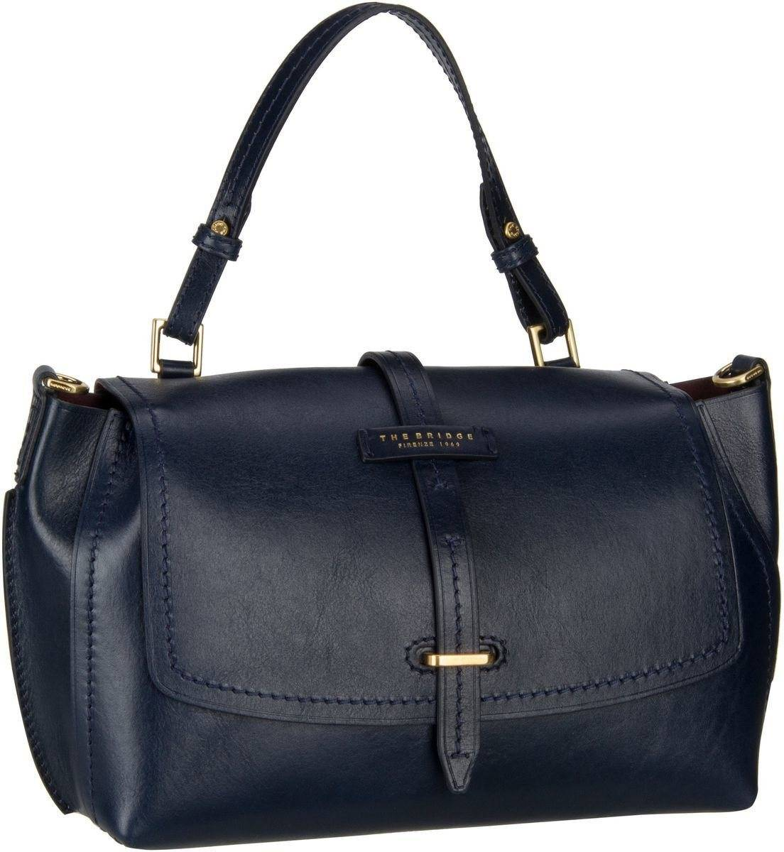 THE BRIDGE Handtasche »Florentin Damentasche 3407«, Blu Navy/Oro Vintage