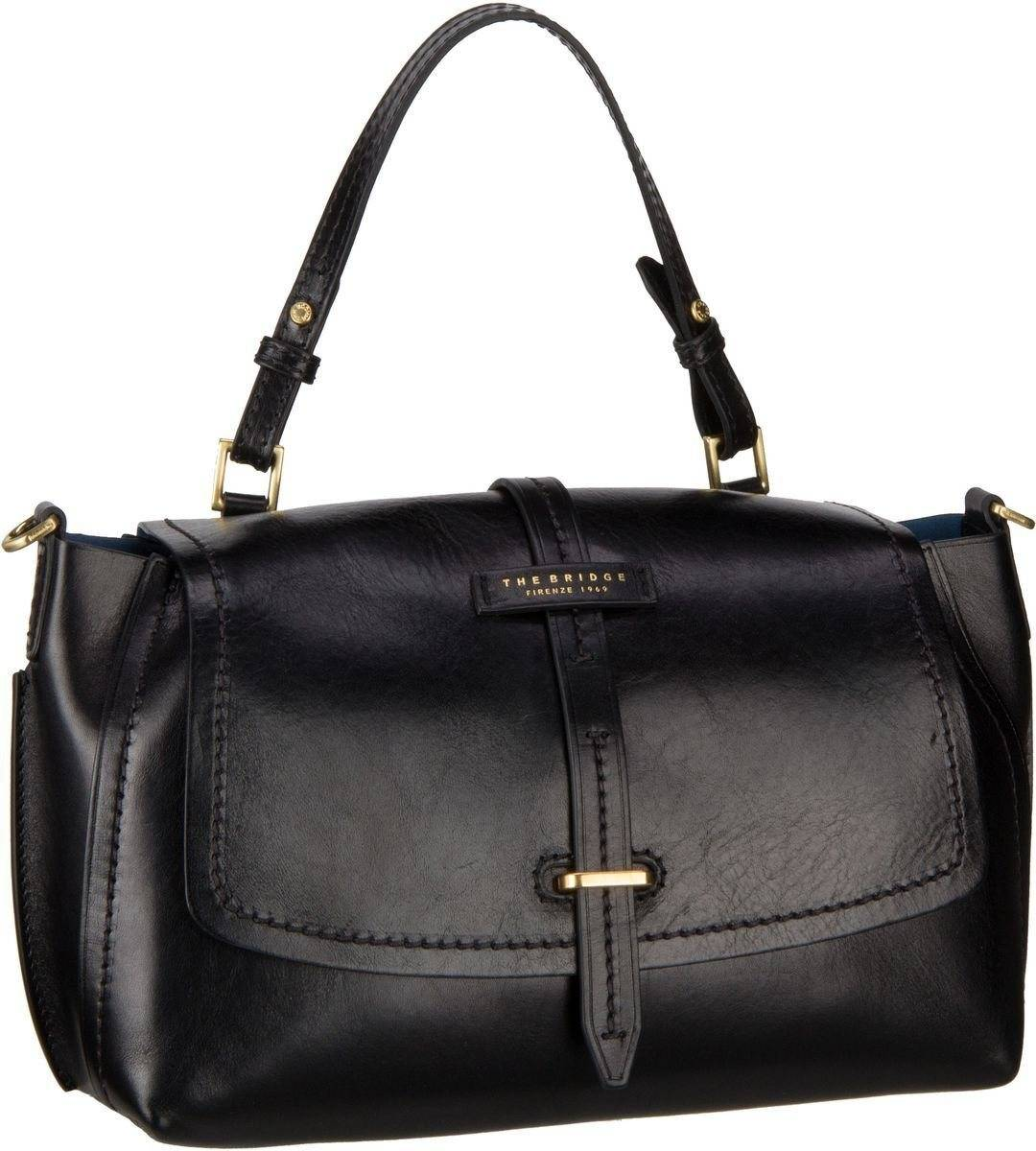 THE BRIDGE Handtasche »Florentin Damentasche 3407«, Nero/Oro Vintage