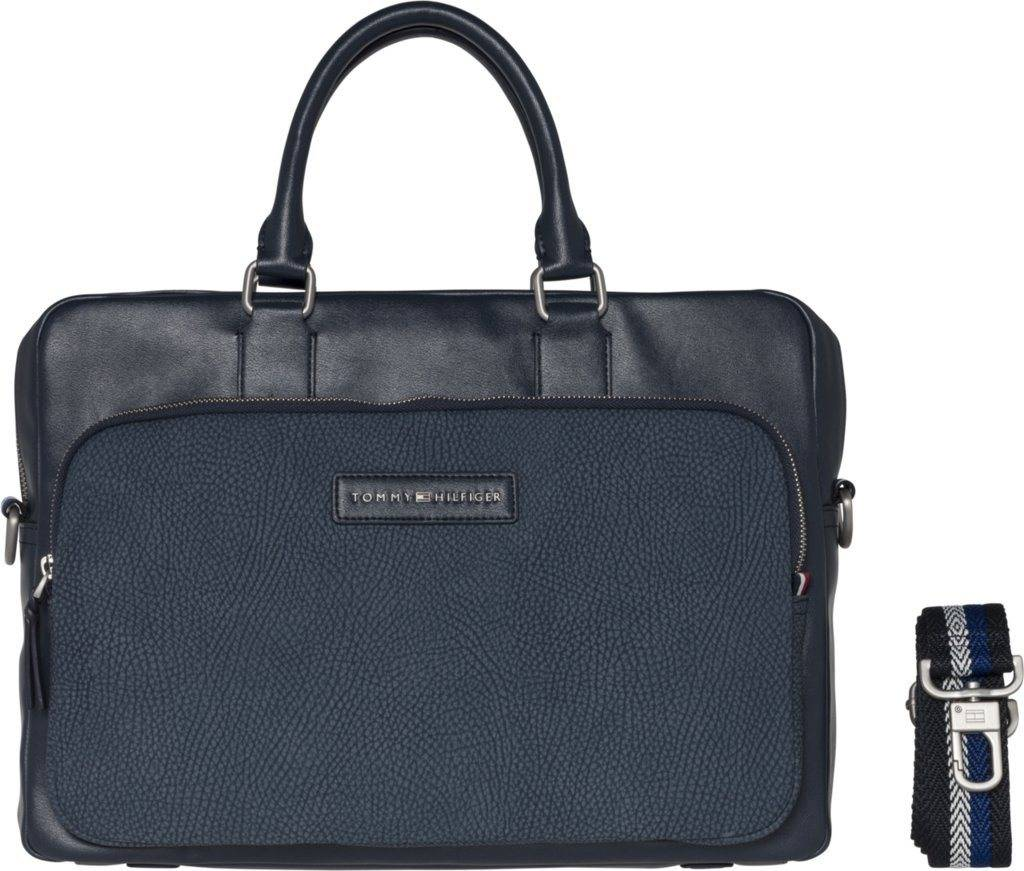 Tommy Hilfiger Tasche »CORPORATE MIX COMPUTER BAG«, Airforce Blue