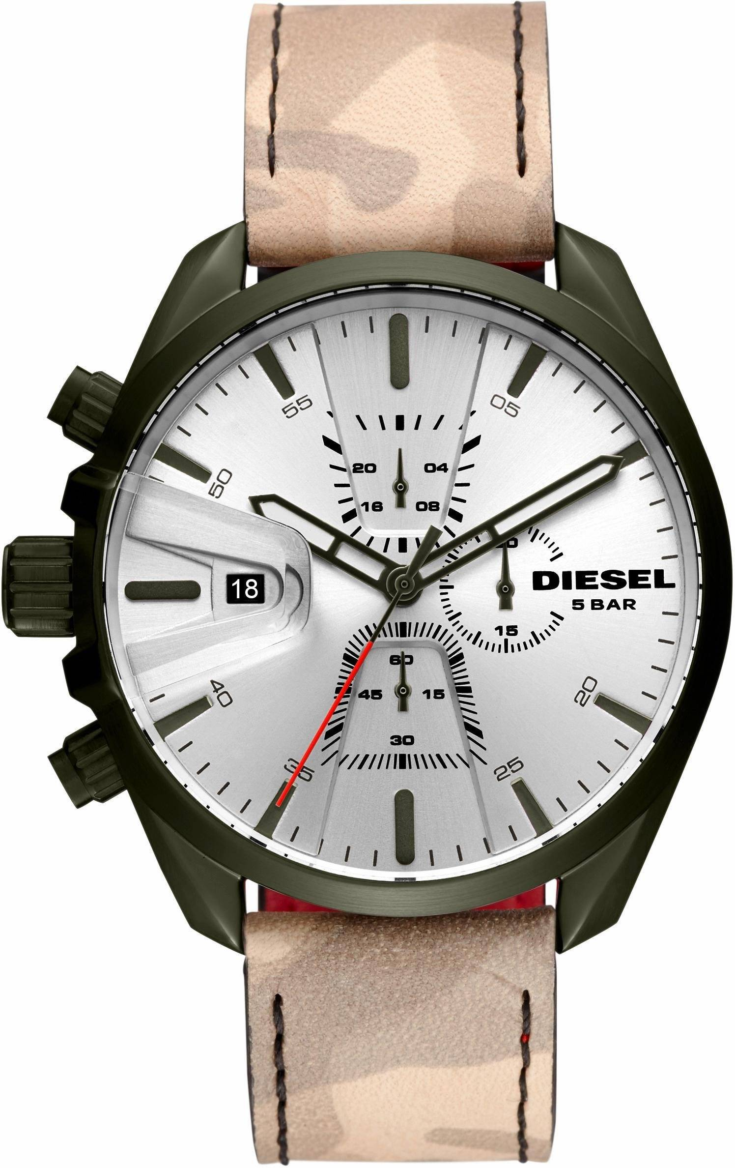 Diesel Chronograph »MS9 CHRONO, DZ4472« (Set, 2 tlg), natur