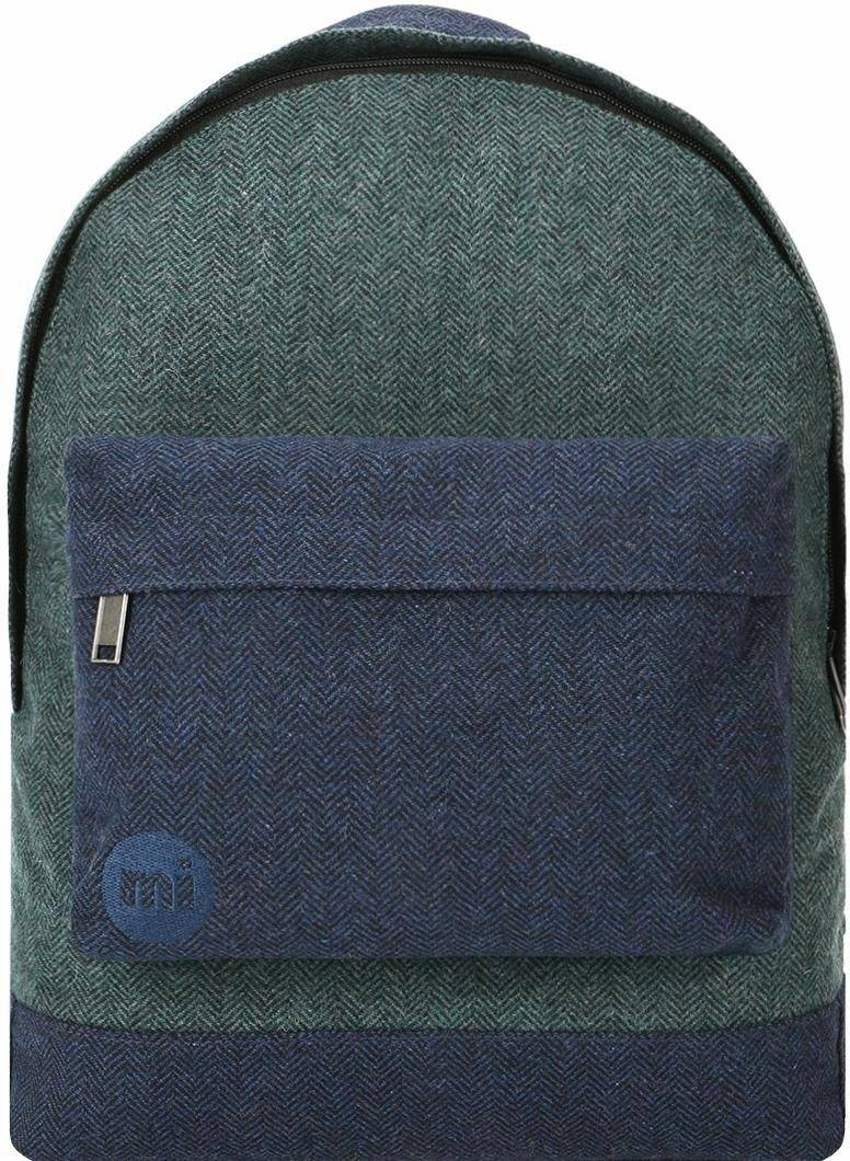 Mi-Pac mi pac. Rucksack mit Laptopfach, »Heavyweight Premium Herringbone Mix, green/navy«, green/navy