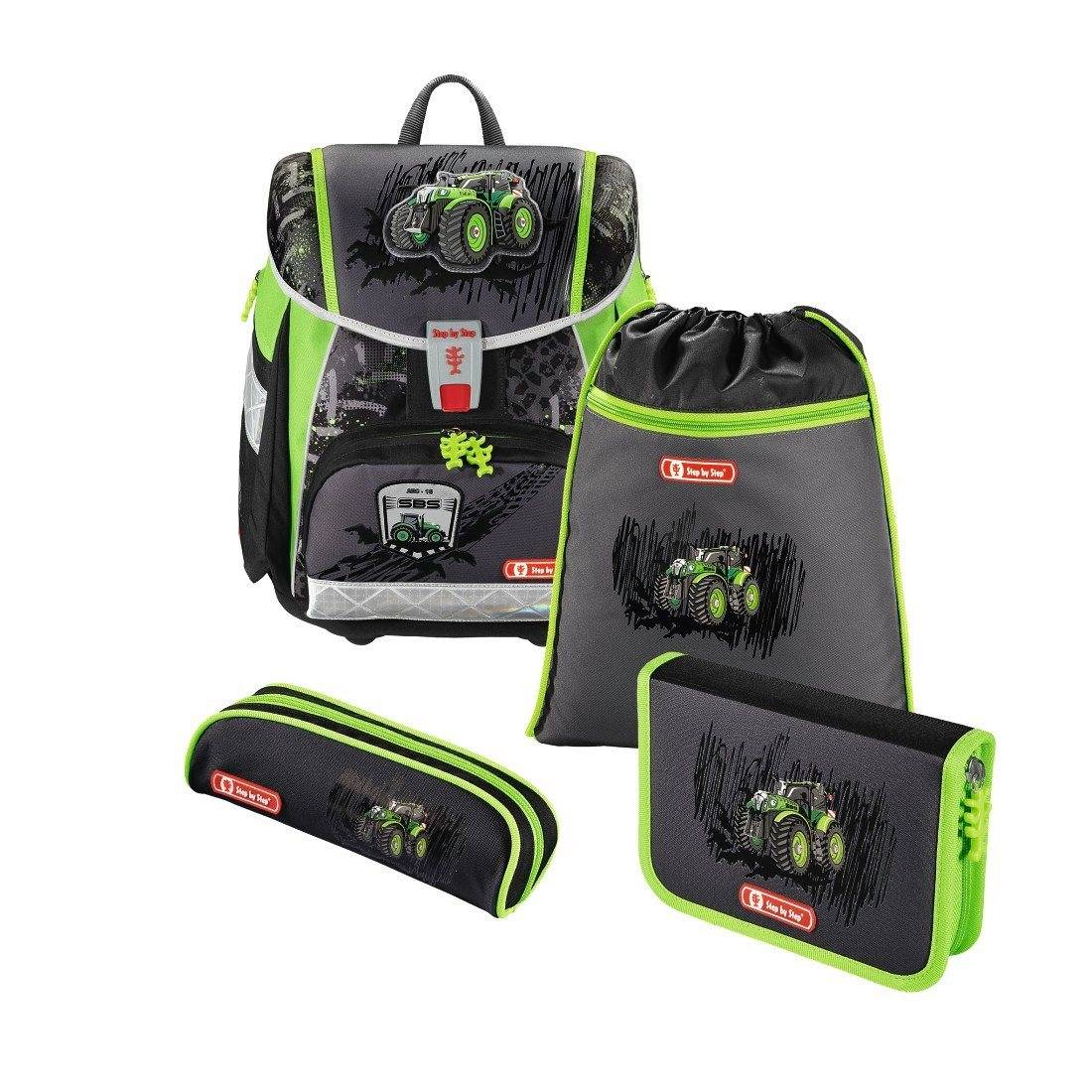 Step by Step Schulranzen Set Jungen Tornister Set TOUCH 2 »Green Tractor«