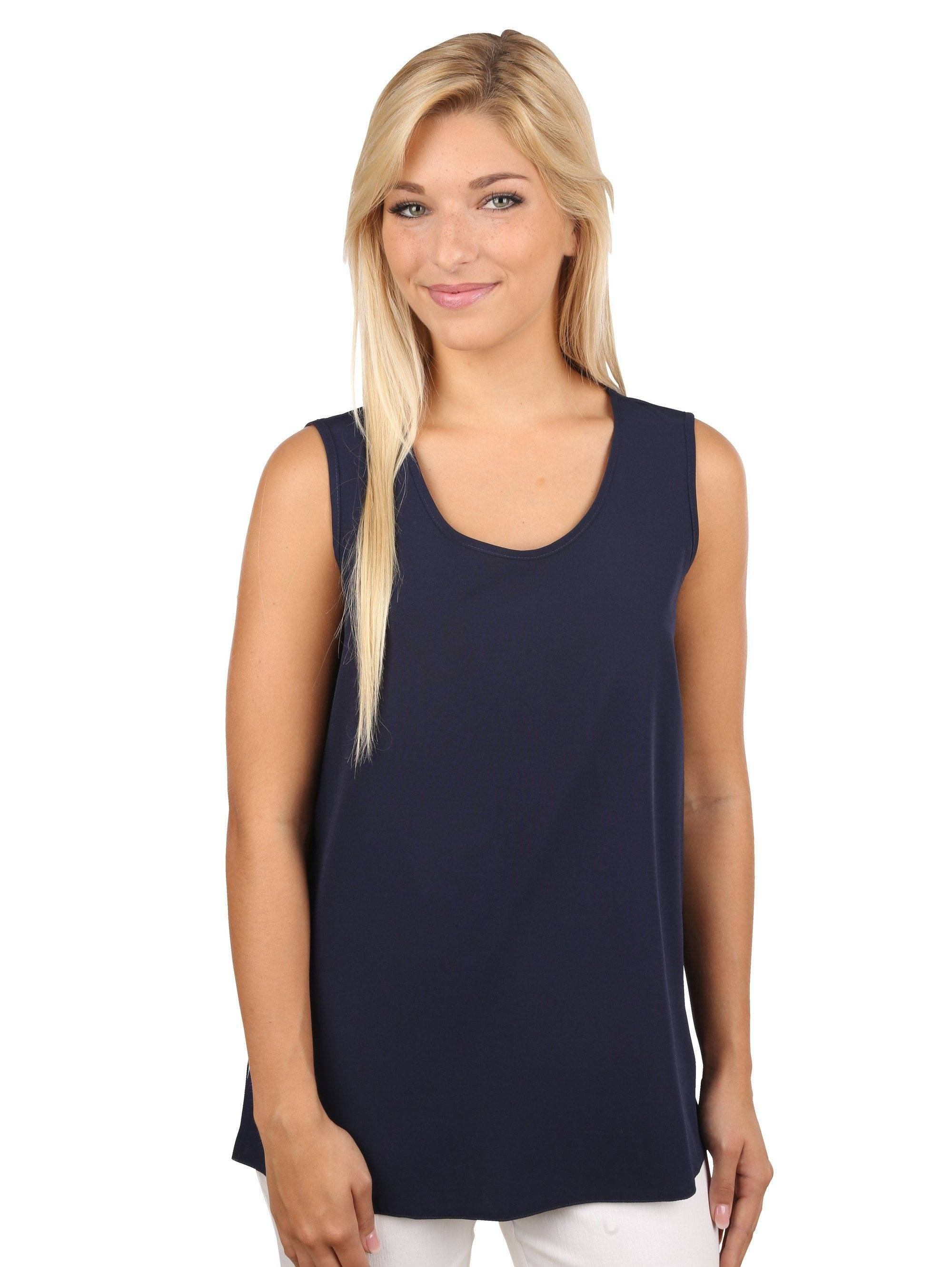 Mona Top als Basic, Marineblau