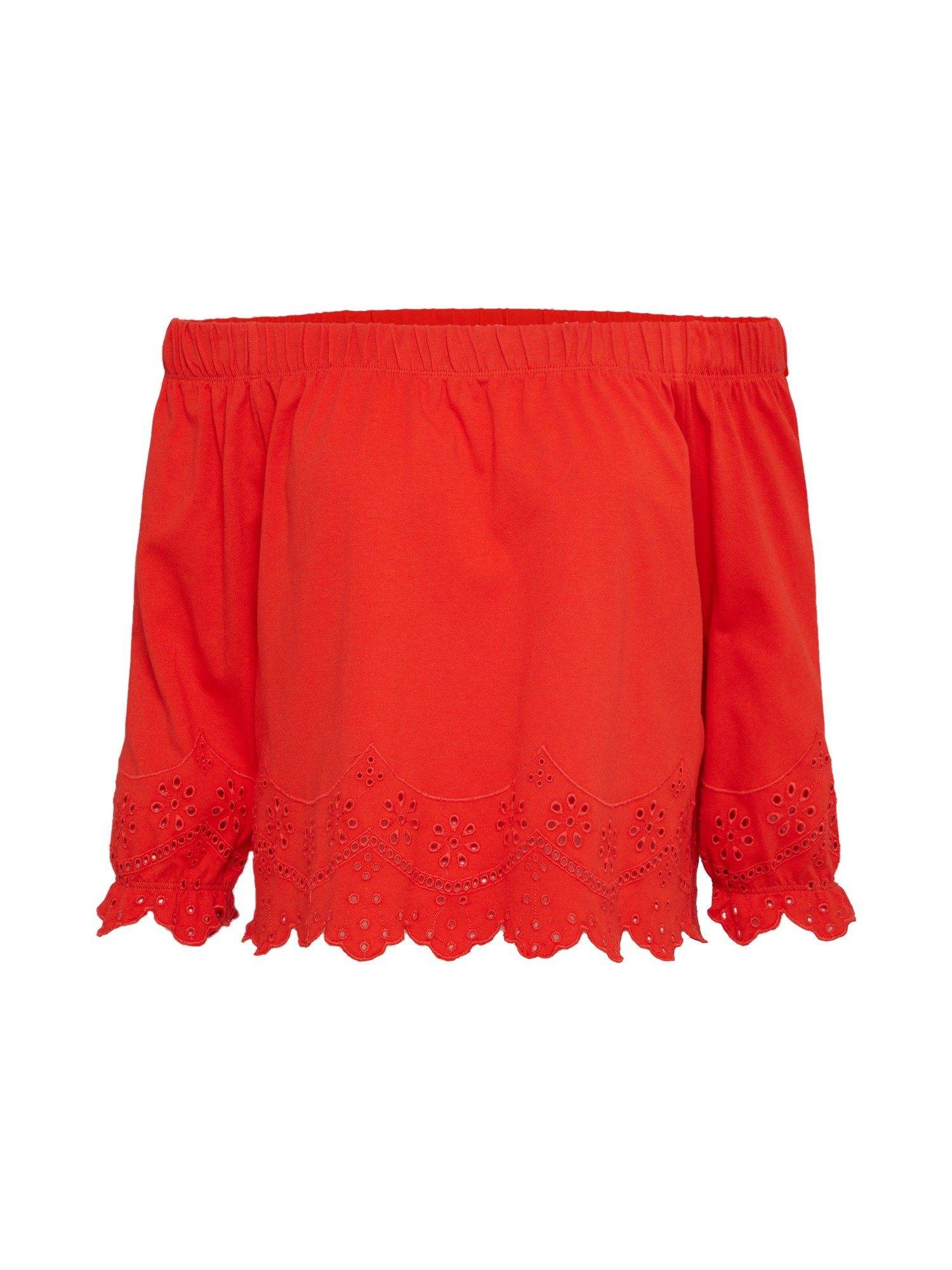 Only Shirtbluse »ANNY« Spitze, feuerrot