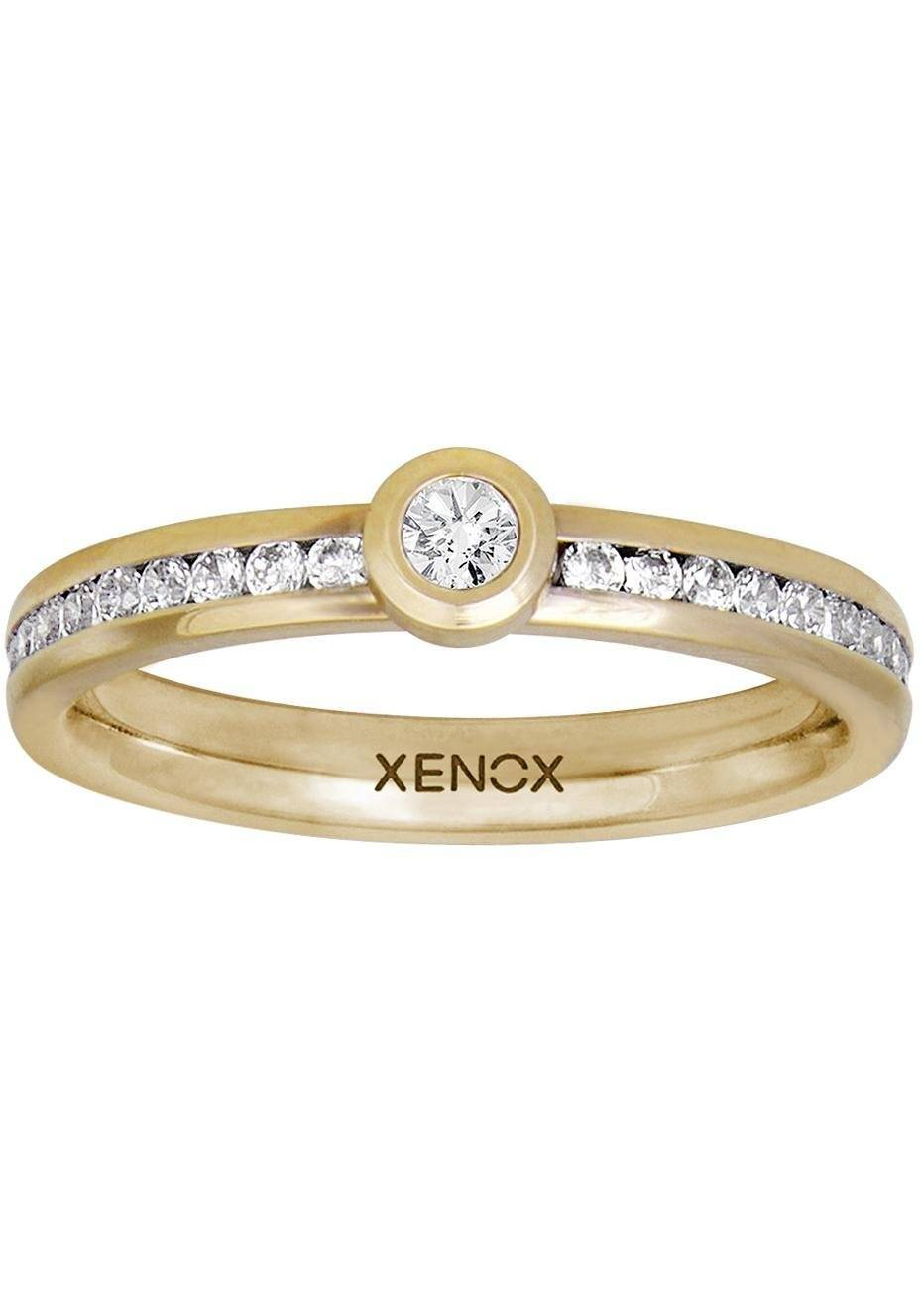 XENOX Fingerring »& friends, X2627G«, mit Zirkonia, goldfarben