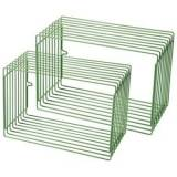 Done by Deer Wire Rectangle Shelf 2 Pieces Green One Size