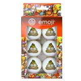 Emoji 6 Pack Fun Golf Balls - Poop