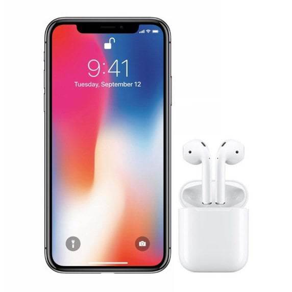 Apple iPhone X 64gb Negro Libre + Airpods