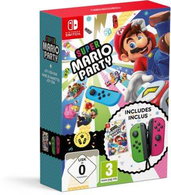 Nintendo Jeu Switch Nintendo Super Mario Party + Paire de Joy-con