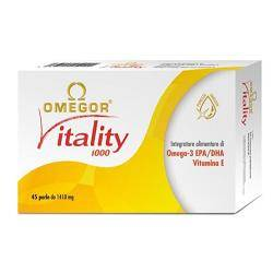 U.g.a. nutraceuticals srl Omegor Vitality 1000 Integratore Alimentare 45 Perle 1410 Mg
