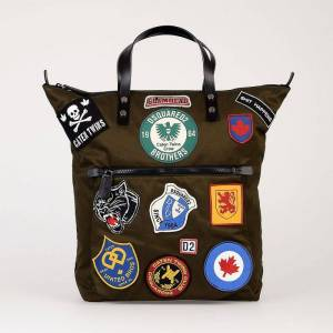 Dsquared2 Borsa Shopping In Tessuto Con Patch...
