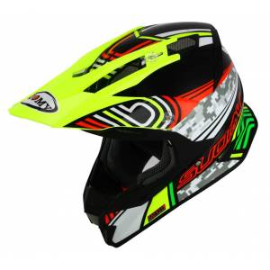 Suomy Alpha Pixel Casco di motocross Nero/Giallo...
