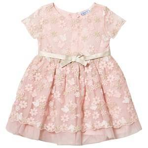 Mayoral Blush Floral Tulle Dress 8 years