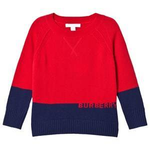 Burberry Cashmere Branded Alistair Sweater Red and Black 8 years