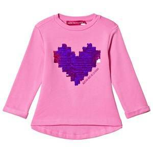 Agatha Ruiz de la Prada Pink Purple Pixel Heart Sweater 12 years
