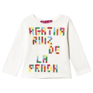 Agatha Ruiz de la Prada White Multicolored Branded Tee 2 years