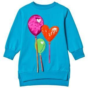 Agatha Ruiz de la Prada Blue Balloon Heart Sweatshirt 2 years