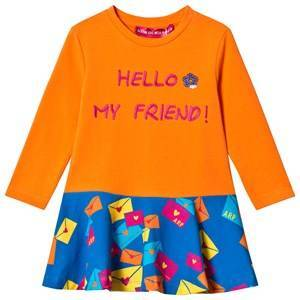 Agatha Ruiz de la Prada Orange & Blue Hello My Friend Dress 8 years