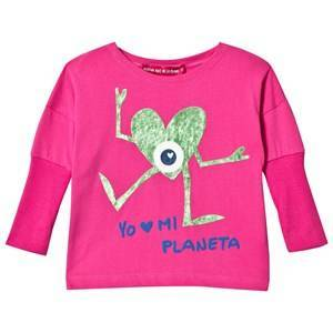 Agatha Ruiz de la Prada Hot Pink Monster Heart Tee 12 years