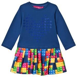 Agatha Ruiz de la Prada Blue Multicolor Patchwork Dress 12 years