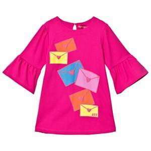 Agatha Ruiz de la Prada Pink Love Letters Print Dress 2 years