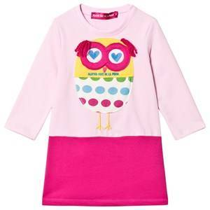 Agatha Ruiz de la Prada Pink Fluffy Owl Applique Dress 8 years
