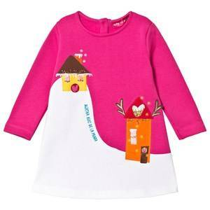 Agatha Ruiz de la Prada Pink Snowy House Scene Dress 10 years