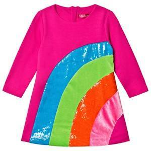 Agatha Ruiz de la Prada Pink Sequin Rainbow Dress 10 years