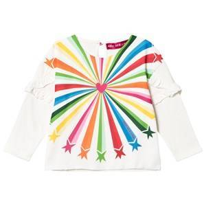 Agatha Ruiz de la Prada White & Multicolor Shooting Star Print Tee 6 years