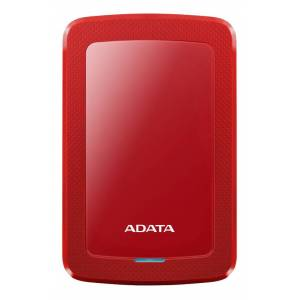 Adata AHV300-1TU31-CRD Adata  1TB External Hard drive, 10,3mm, USB 3.1, Quick start, red
