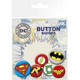 GYE DC Comics - Logos Pin Badges 6-Pack
