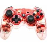 Handkontroll Manette sans fil Afterglow rouge PlayStation® 3, PC Transparent, Röd