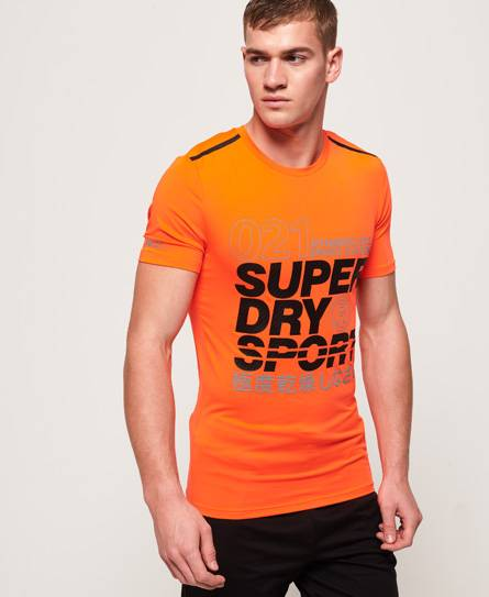 Superdry Active Graphic T-Shirt Orange