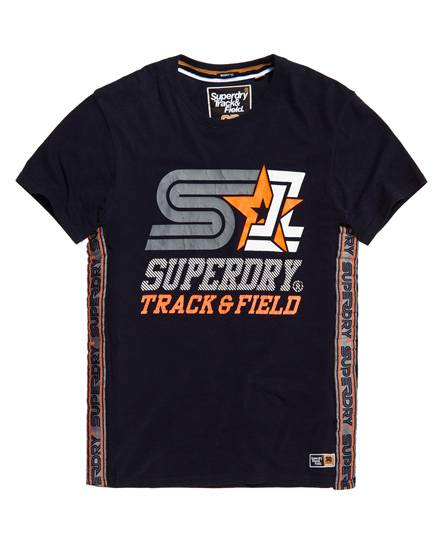 Superdry Triple Star Taped Oversized T-Shirt Navy