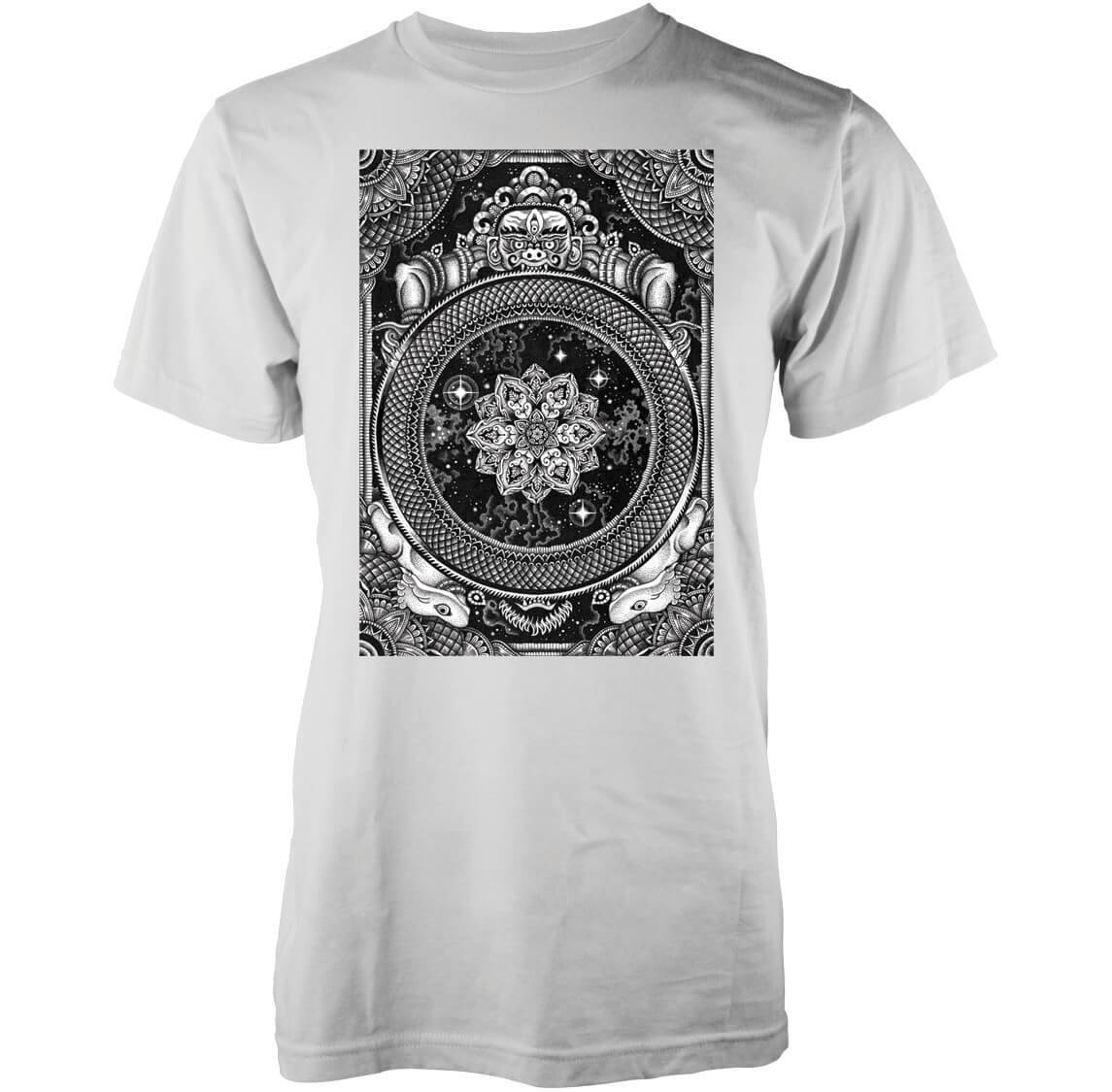 Abandon Ship Men's Jen X Mandala T-Shirt - Black - S - Black